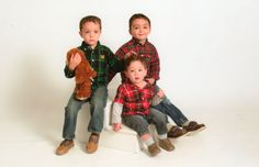 Gabriel (3.5), Christian (2.5) and Joseph (15 months).