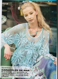 Crochet blouse made of circles ♥LCT♥ with diagram ----Ivelise Feito à Mão: Blusa Rendada Em Crochê