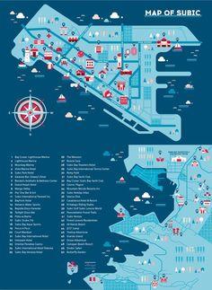 Ad Summit 2014 Subic Map by Joanna Malinis, via Behance: