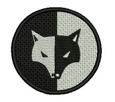 Black/White Wolf Symbol Embroidered Patch, $5.99. FREE SHIPPING!