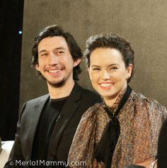 Adam Driver and Daisy Ridley at the Star Wars press junket