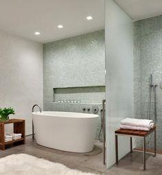 Sea-glass bathroom.