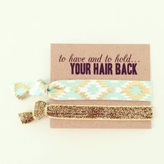 Hair Tie Bachelorette Favor Mint Green Gold Glitter Elastic Hair Tie... ($3.25) ❤ liked on Polyvore featuring accessories, hair accessories, ties & elastics, white, white hair accessories, glitter hair ties, hair ties, glitter hair accessories and elastic hair ties