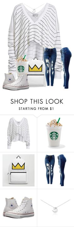 """Simply simple"" by glitterqueenz ❤ liked on Polyvore featuring Wildfox, Converse and simple"