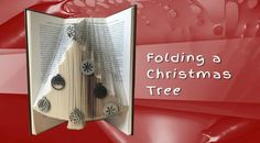 Bookfolding - folding a christmas tree