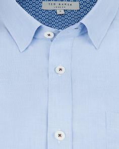 BYELOU | Classic short sleeve shirt - Blue | Shirts | Ted Baker