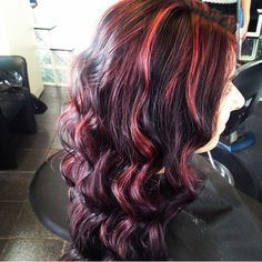 70 Sensational Red Highlights Styles — Flames in Your Hair Check more at http://hairstylezz.com/best-red-highlights-styles/