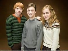 Harry Hermione and Ron