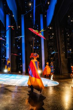 Photo 1 of 32   Onstage, a crew member makes sure the set is in working order before the show begins.   Exclusive Photos! Go Backstage with the Cast of The Lion King on the Hit Musical's 17th Anniversary   Broadway.com