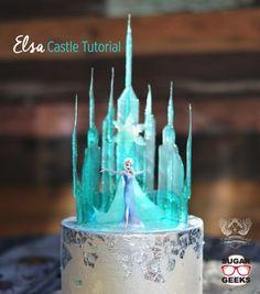 Elsa Castle Cake! SO dang cool!