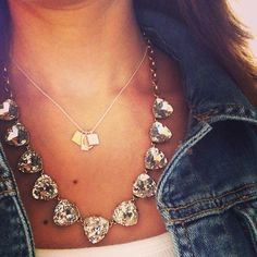 A classic Friday look: Hope Necklace paired with Somervell over a white tank and denim. #TGIF #StellaDotStyle