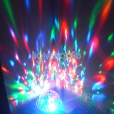 E27 3W RGB Crystal Magic Ball LED Full Color Rotating Stage Party Light - Stage Lighting - Lightingole.com