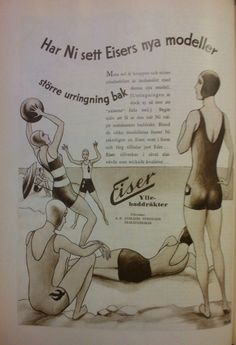 An ad for Eiser's wool jersey swimsuits. 1931
