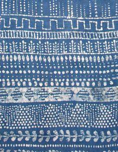 Indigo Blues - Batik block print, dyed in natural indigo plant extract (detail) - (emmamcginn)