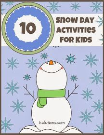 """Spin-Doctor Parenting"": 10 Snow Day Activities"