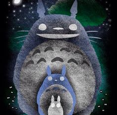 A hauntingly beautiful Totoro.