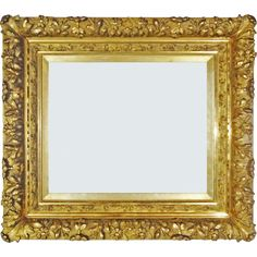 Beautiful antique French Louis XIV style gilt wood and gesso picture or mirror frame profusely carved with flower and leaf ornaments. Description from rubylane.com. I searched for this on bing.com/images