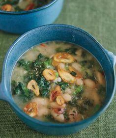 Gluten-Free, Dairy-Free Creamy Kale-Cannellini Bean Soup