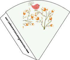 Jardim Encantado Passarinho Laranjado - Kit Completo com molduras para convites, rótulos para guloseimas, lembrancinhas e imagens!