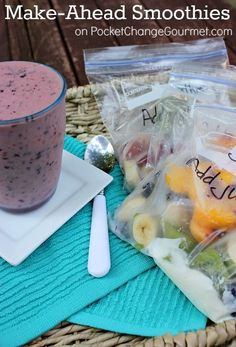 Breakfast is easy with these Make Ahead Smoothies!