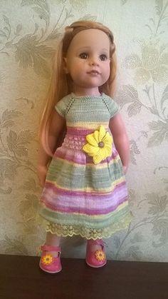 Фантазия и полоски пряжи секционного окрашивания / Одежда и обувь для кукол - своими руками и не только / Бэйбики. Куклы фото. Одежда для кукол