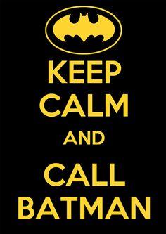 Etiquetas Handmade: Keep calm and call Batman