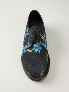 Multicoloured cotton and leather 'Lester' shoes from Dr. Martens