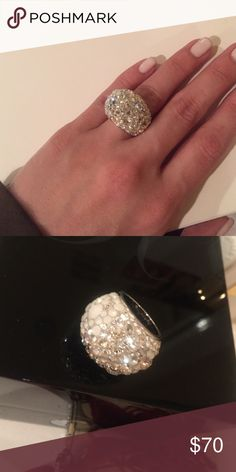 So Shiny Prettty Sparklin Ring! Brand New Size 32 Swarovski Jewelry Rings