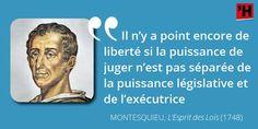 Comprendre #Montesquieu en citations, c'est possible ! La séparation de pouvoirs…