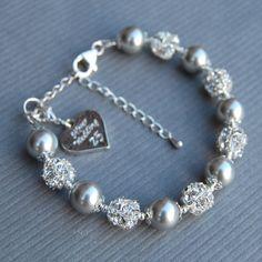 Silver Wedding Gift, Silver Wedding Anniversary Charm Bracelet, 25th Anniversary Gift
