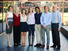 STANFORD STUDENTS CREATE APP FOR CAREGIVERS OF PATIENTS WITH DEMENTIA -- The Formative team: Marta Zanchi, Ph.D., Dr. Carol Winograd, Katie Redmond, Mersina Simanski, and Nikhil Parthasarathy, Tyler Haydell, and Professor Paul Yock. Their app gives paced, personalized activity recommendations to caregivers of loved ones with dementia.