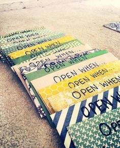Made these for my boyfriend before he went to college.. Such a good gift idea! #OpenWhen