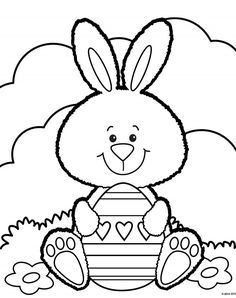Free Printable Easter Coloring Pages are fun for all ages! Easter egg coloring pages, Easter bunny coloring pages, & more adorable Easter pictures to color! Easter Coloring Pictures, Free Easter Coloring Pages, Easter Bunny Colouring, Easter Egg Coloring Pages, Colouring Pages, Coloring Pages For Kids, Easter Pictures To Color, Easter Art, Easter Crafts