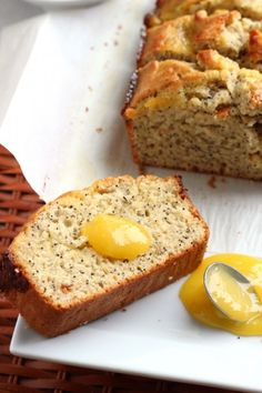 Bright and filled with a triple dose of lemon-- lemon juice, lemon zest and lemon curd, this quick bread combines lemon with poppy seeds.