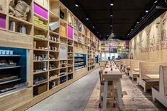 Restaurante WakuWaku en Hamburgo, diseño realizado por Ippolito Fleitz Group « Diseño de interiores Valencia