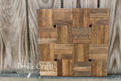Use Elmer's Wood Glue to create beautiful, wood home decor. Just alternate wood tiles for an abstract and shabby chic look!