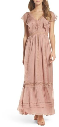 Women's Adelyn Rae Lace Maxi Dress