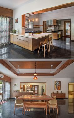 Contemporary House with a Simple Layout, Home Decor, Contemporary House With a Simple Layout-dining decor -kitchen. Kitchen Room Design, Home Room Design, Modern Kitchen Design, Dining Room Design, Home Decor Kitchen, Interior Design Kitchen, Home Kitchens, House Design, Dining Decor