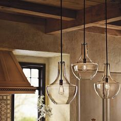Kitchen Lighting - Everly Ceiling Pendant from Kichler Lighting Kitchen Island Lighting, Kitchen Lighting Fixtures, Kitchen Pendant Lighting, Kitchen Pendants, Ceiling Pendant, Light Pendant, Mini Pendant, Glass Pendants, Kitchen Lights Over Island