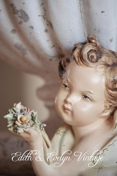 Vintage Italian Cherub Porcelain Signed and by edithandevelyn, $45.00