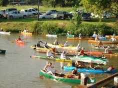Port Barre public boat launch - Port Barre, LA in Louisiana - Tour du Teche - October - race for canoes, kayaks and pirogues, 135 miles