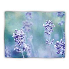 40 x 30 Kess InHouse Danny Ivan Bubbles Blue Purple Fleece Throw Blanket