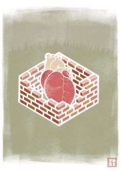 """""""Heart In a Wall"""" by Iam Toxi"""