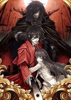 HELLSING, Vlad Dracula,  Alucard (Male & Female) Draw by Fujinohara Akihira