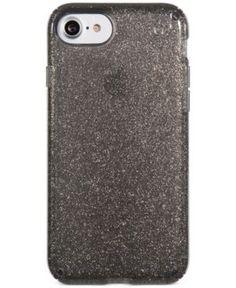 Speck Presidio Glitter iPhone 7 Case - Onyx Black With Gold Glitter