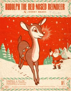 Vintage Sheet Music to Rudolph The Red-Nosed Reindeer - we had this one & I remember my mom playing it every Christmas :) Christmas Sheet Music, Old Fashioned Christmas, Christmas Deer, Christmas Past, Retro Christmas, Rudolph Christmas, Christmas Sheets, Xmas Music, Christmas History