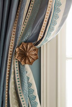 Fabricut's European Grandeur drapery hardware collection Window Coverings, Window Treatments, Drapery Designs, Made To Measure Curtains, Drapery Hardware, Colorful Curtains, Curtains With Blinds, French Decor, Shabby Chic Homes