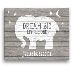 Elephant Canvas, Grey Elephant, Baby Canvas, Canvas Art, Canvas Quotes, Elephant Design, Mini Canvas, Elephant Print, Big Little