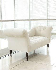 White Pandora Settee #Horchow
