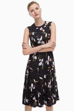 Digital Floral-Print Crepe Dress - Belle du Jour   Adolfo Dominguez shop online